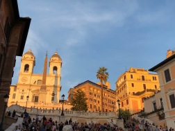 Spanish Steps with Trinita dei Monti and Bourbon Spanish Embassy in the background