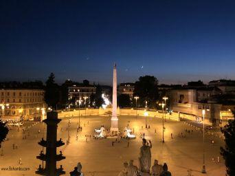 Piazza del Popolo from Pincio Gardens