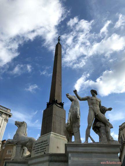 Quirinile Obelisk in Piazza del Quirinale