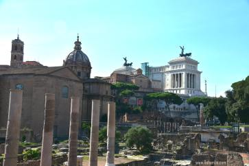 Palazzo Venezia from Roman Forum