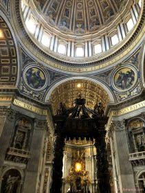 Vatican Dome and Bernini Baldachin