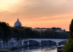 Vatican from the Tiber river bank