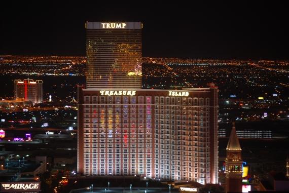 Treasure Island and Trump Hotel