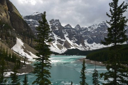 Moraine Lake from the vantage point of the rock pile