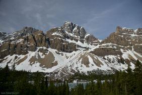 Peaks blunted by weathering