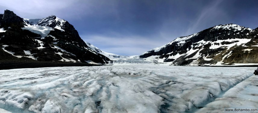 On top of the Athabasca Glacier